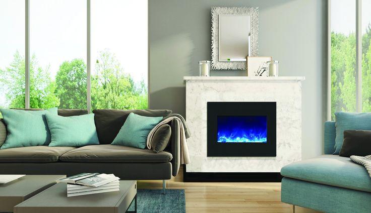 "26"" Zero Clearance Fireplace with 29"" x 23"" Black Glass Surround"