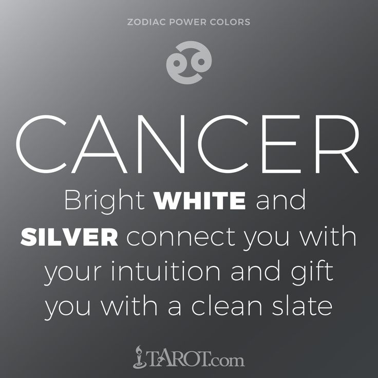 Cancer Power Colors: White & silver
