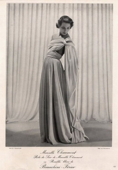 Marcelle Chaumont 1949 Evening Gown  Fashion PhotographySeeberger #EasyNip