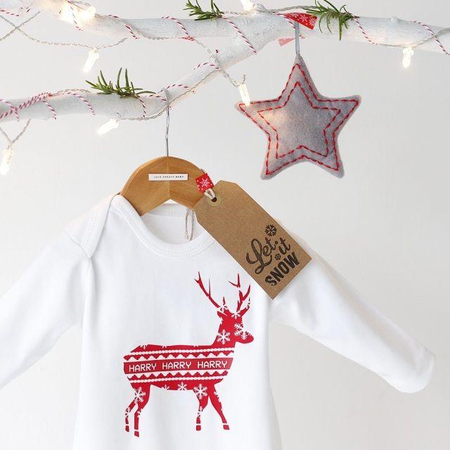 Personalised Reindeer Romper.