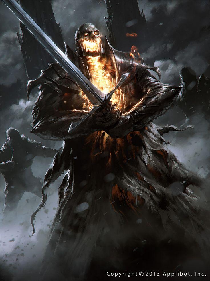 Artist: Grzegorz Rutkowski aka 88grzes - Title: calvary's knight - Card: Dreadful Immortal King Kare (Aged)