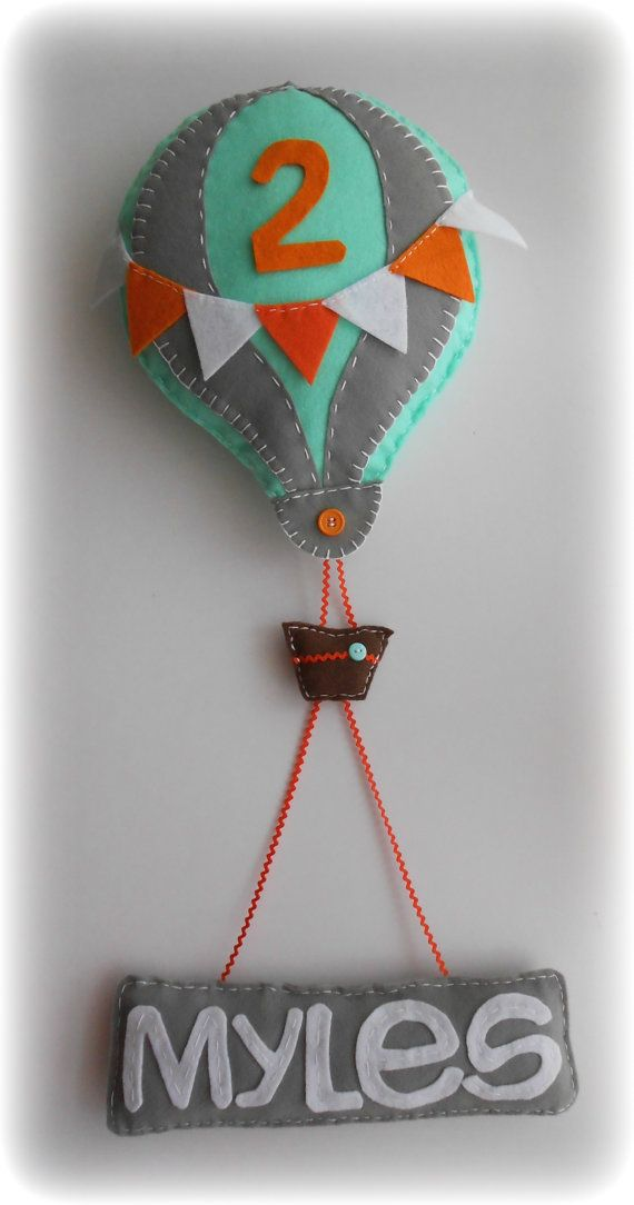 Hot Air Balloon with Personalized Name Banner for by Maycasews