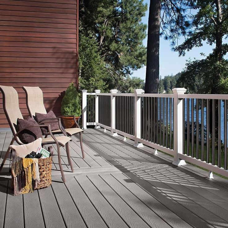 Trex Select 12ft Pebble Grey Grooved Composite Deck Board