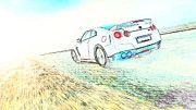 """New artwork for sale! - """" Nissan Gtr R35  by PixBreak Art """" - http://ift.tt/2m4kE1q"""