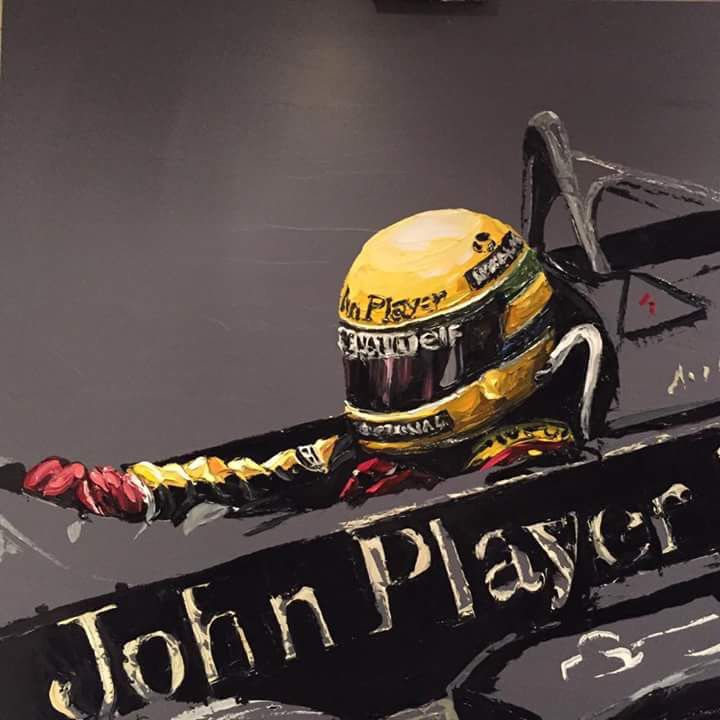 Paul Oz - work in progress. Ayrton Senna in JPS Lotus.