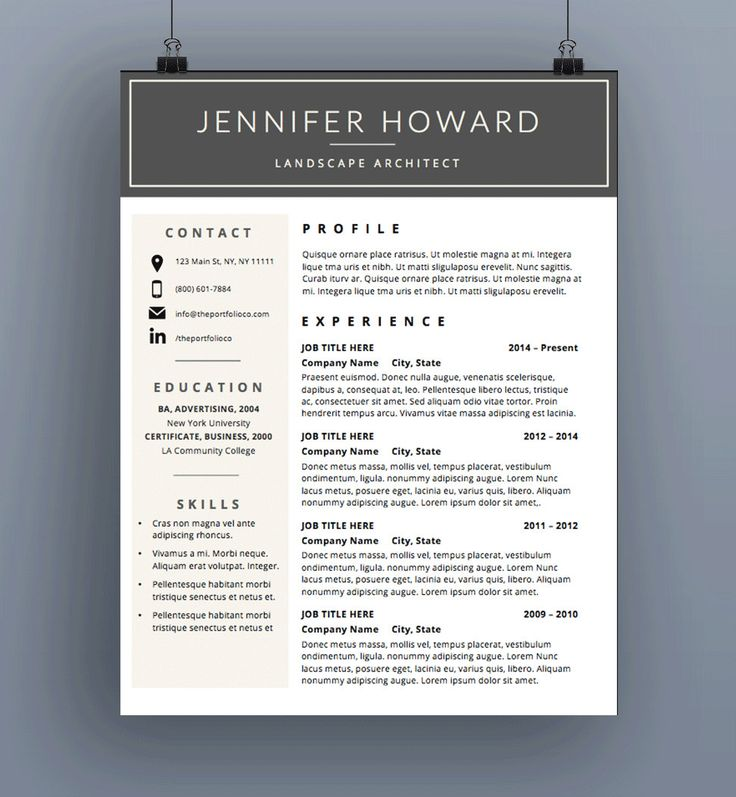 Resume Template CV Template Cover Letter by