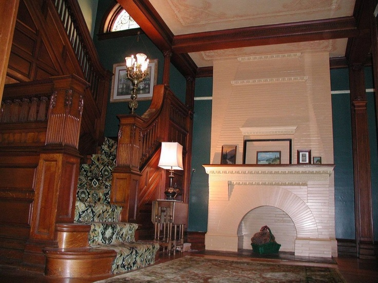 I hate the painted over fireplace but the stairwell is gorgeous! 623 N 4th St, Reading, PA 19601 - Zillow