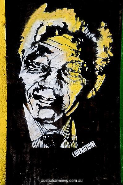 South Africa Gauteng Province Johannesburg Soweto painting representing Nelson