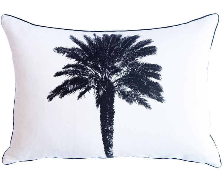 Palm Tree Scatter Cushion by Phlo Studio. 40cm x 60cm. From R250.00. Shop online at www.phlostudio.co.za . For orders outside South Africa email us at info@phlostudio.co.za