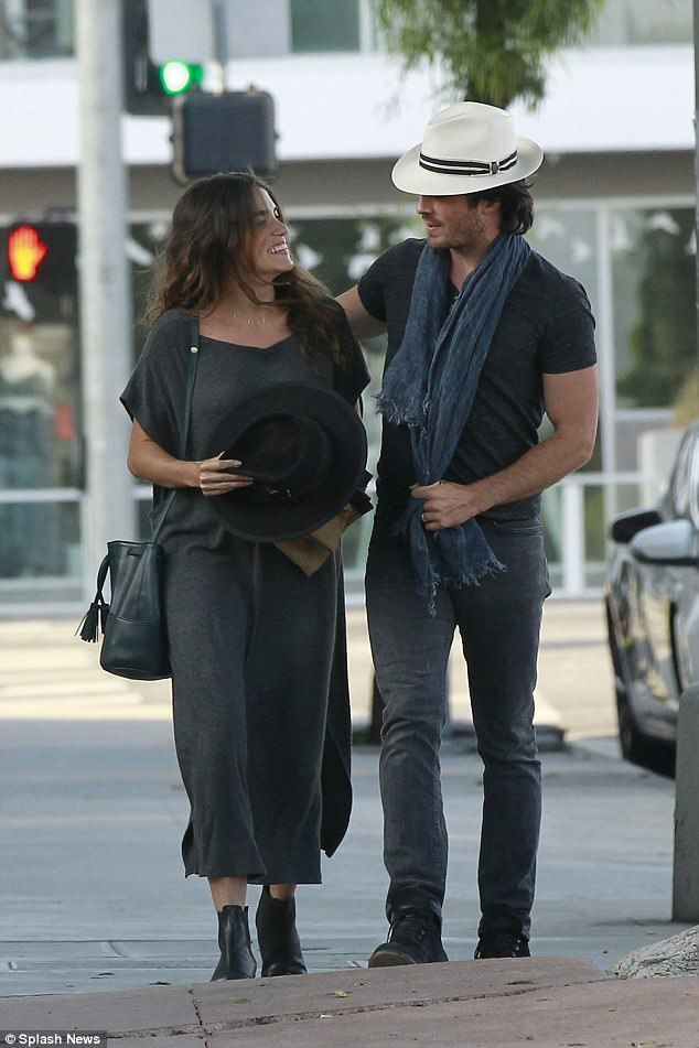 Parents-to-be! Pregnant Nikki Reed was beaming with joy as she enjoyed a relaxed dinner date with her husband Ian Somerhalder on Monday