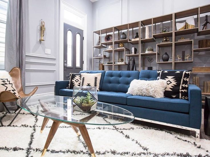 """Love the living room that Property Brothers' Drew Scott and Team Drew designed for """"Brothers Take New Orleans!"""" See our Episode Guide for airing times!"""