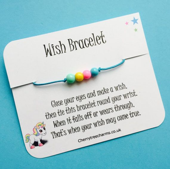 Unicorn Wish Bracelet unicorn gift unicorn by CherryTreeCharms1