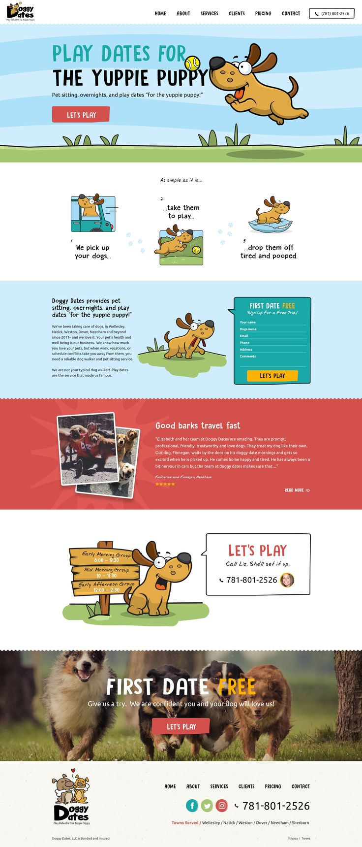 Design #61 by 2ché | Website Design for Fun Dog Daycare