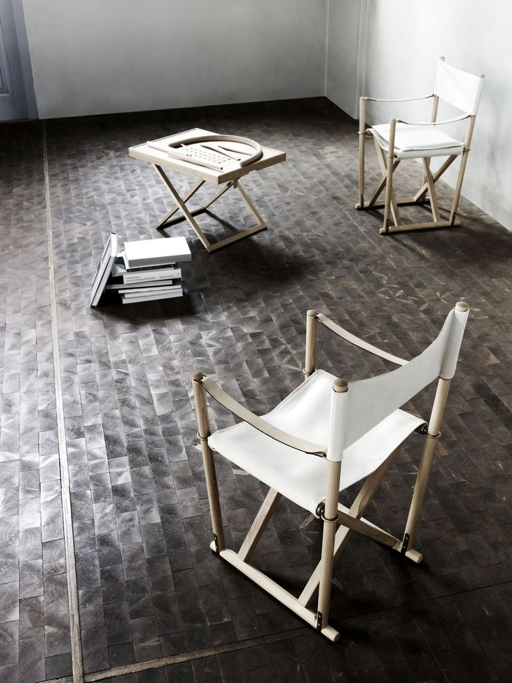 The Folding Chair and Table. Designed by Mogens Koch in 1932 and 1960.