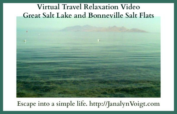 Virtual Travel Relaxation Video: Great Salt Lake and Bonneville Salt Flats #videos #relaxation #asimplelife #simpleliving