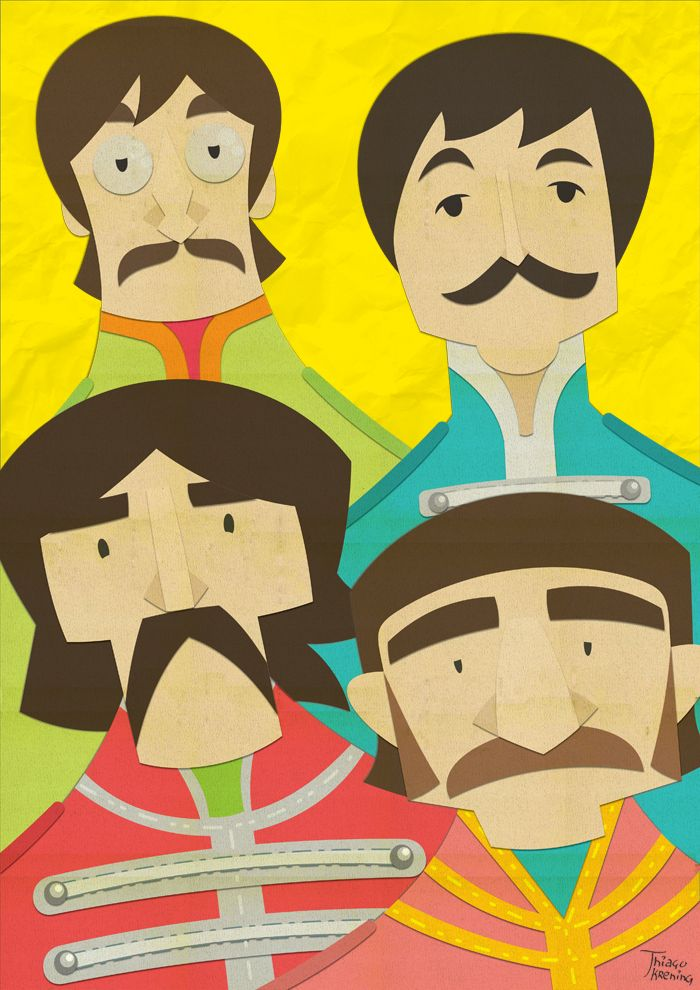 Paper Beatles by Thiago Krening