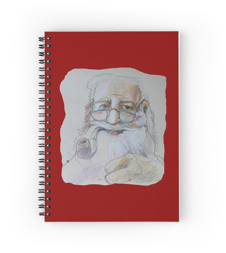 Santa Claus with Pipe (Original Hand Drawing by Alice Iordache) by VanyssaGraphics