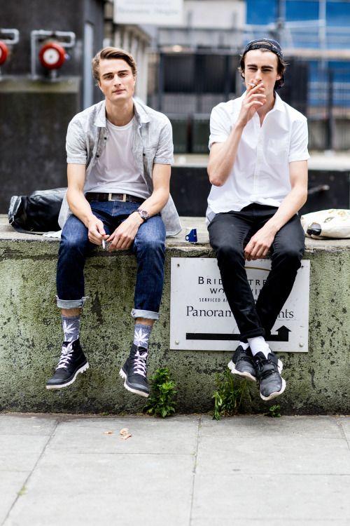 Almantas Petkunas & Jack Chambers - London Collections: Men SS16 Street Style