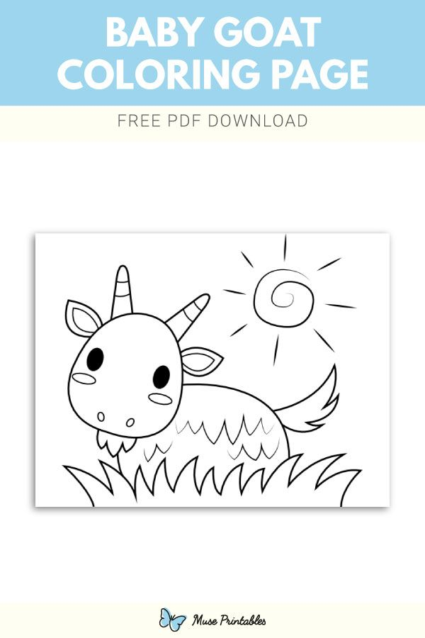 Free Baby Goat Coloring Page Baby Goats Coloring Pages Free Baby Stuff