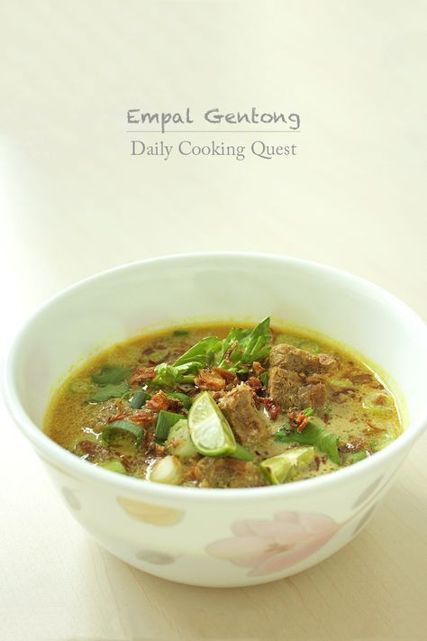 Empal Gentong – Cirebon Beef Soup Recipe at http://dailycookingquest.com/by-cuisine/indonesian/empal-gentong-cirebon-beef-soup