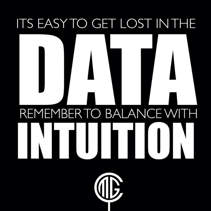 One advances quickly by developing a sense of #Data Intuition // #process #analytics - @CerebrumMG | www.cerebrummarketinggroup.com