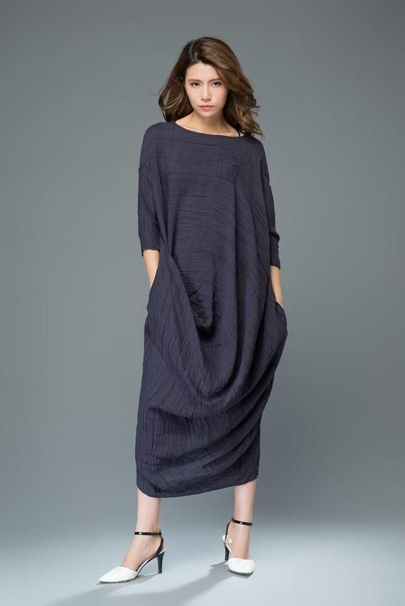 DressLong Maxi Dress DressLong Woman Linen Woman Maxi Linen Ybfv76gy