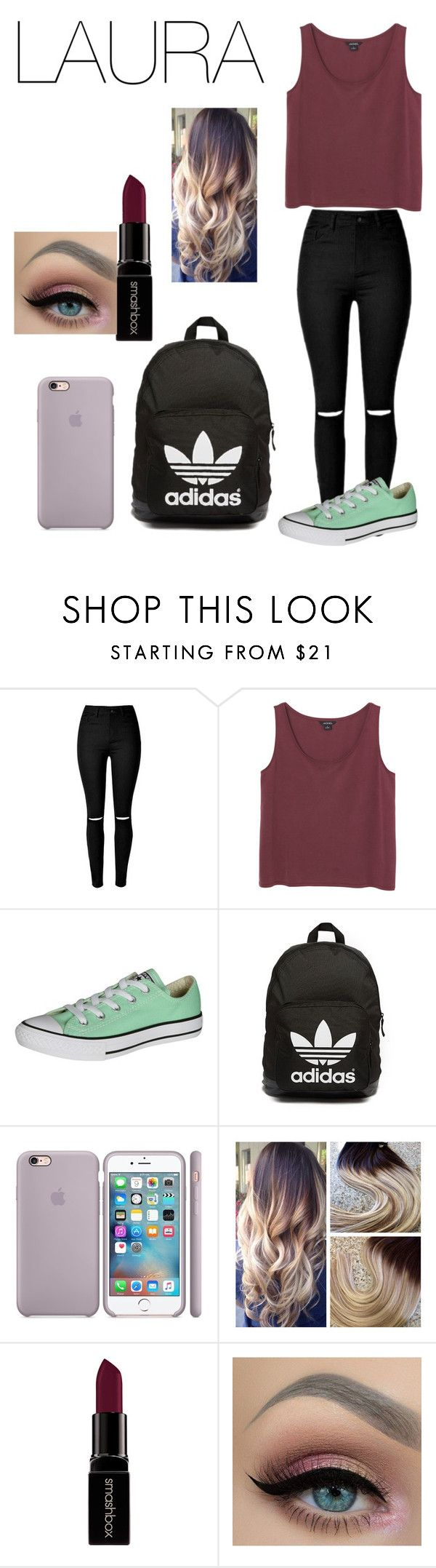 """voor jou"" by carmen-ederveen ❤ liked on Polyvore featuring Monki, Converse, adidas Originals and Smashbox"