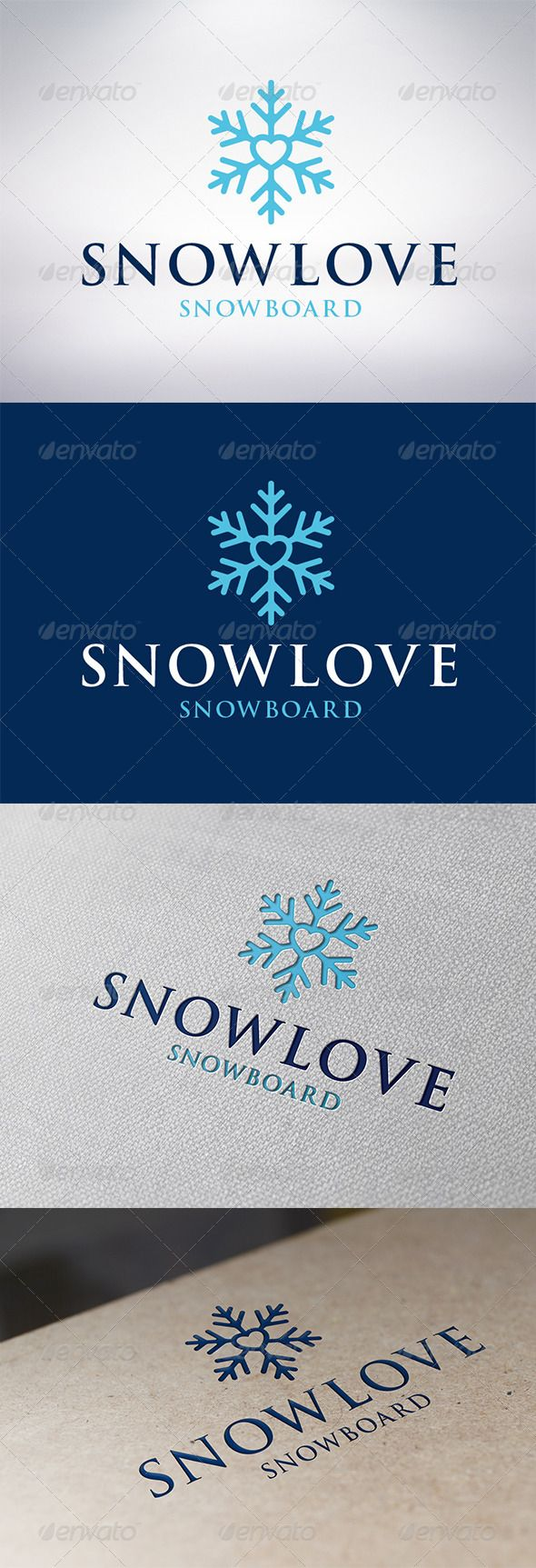 Snow Love Logo Template #GraphicRiver - Three color version: color, greyscale and single color. - The logo is 100% resizable. - You can change text and colors very easy using the named and organized layers that includes the file. - The typography used is Trajan Pro a system default font. Created: 1 December 13 Graphics Files Included: