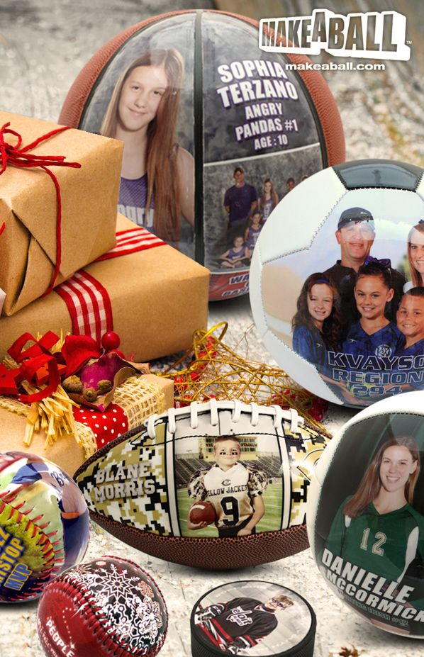 These customized sports balls are the perfect gift for your sports fan this holiday season. Whether they're a fan of football, soccer, basketball, volleyball, baseball, softball or hockey, these items will surely put a smile on the face of your sports fan.