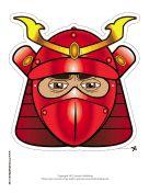 Male Samurai Mask Printable Mask, also a female Samurai   masks ... Raccoon Eye Mask