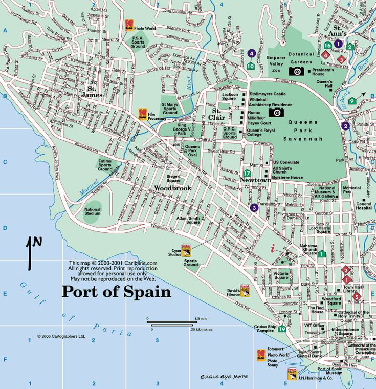Port of Spain... where Woodbrook is the area where I will be going to see my Sis...near Damian Street. :)