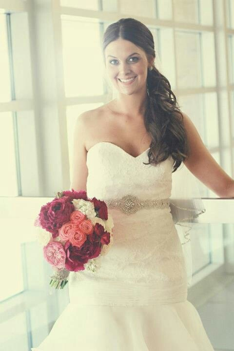 Gorgeous bride Brittany Elrod  Styling by Elizabeth Cervantes of Johnny Rodriguez the Salon