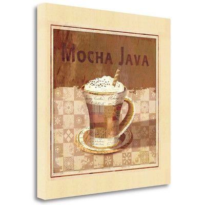 Tangletown Fine Art 'Mocha Java' by Linda Maron Graphic Art on Wrapped Canvas