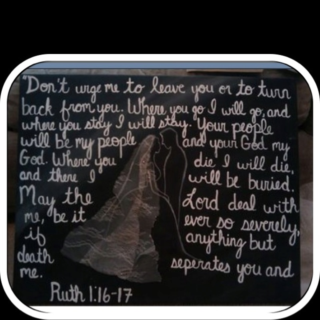 Old Testament Wedding Readings: Ruth 1:16-17 ♥