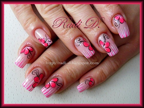 234 best dali nails images on pinterest nail scissors cute its all about nails stripes flowers prinsesfo Gallery