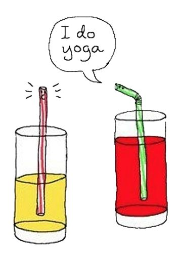 Bendy straw joke (yoga fun, humour & laughter) .... #yogafun #yogacartoon…