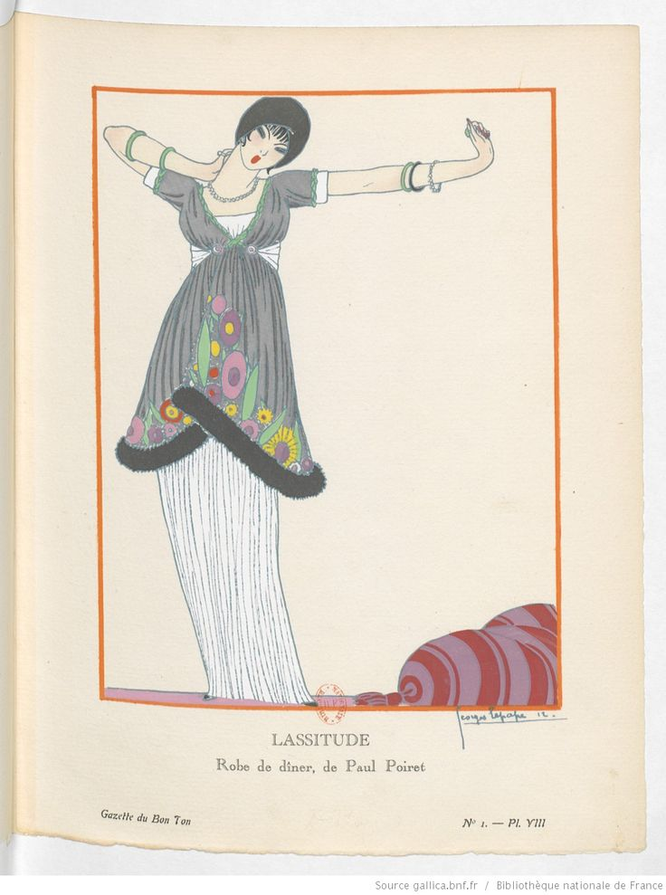 Lassitude, La Gazette du bon ton / directeur Lucien Vogel, octobre 1912