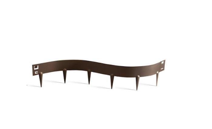 To create a permanent barrier around garden beds flexible steel