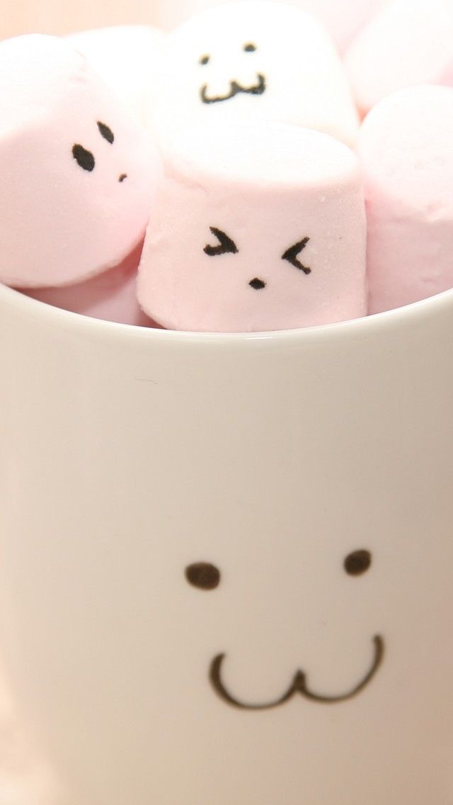 Pretty Girl Wallpapers Hd Cute Marshmallow In Cups Iphone 5s Wallpaper Iphone
