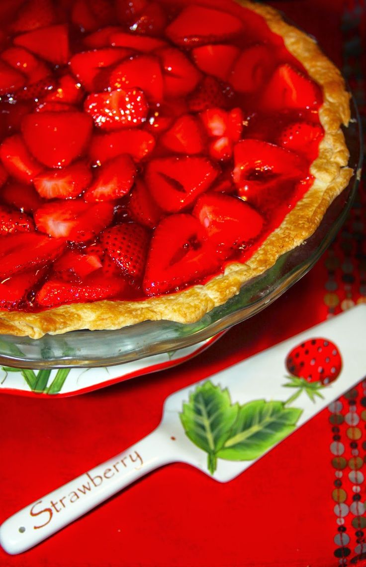 For the Love of Food: Mile High Fresh Strawberry Pie