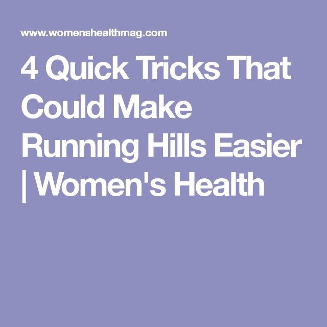 4 Quick Tricks That Could Make Running Hills Easier | Women's Health