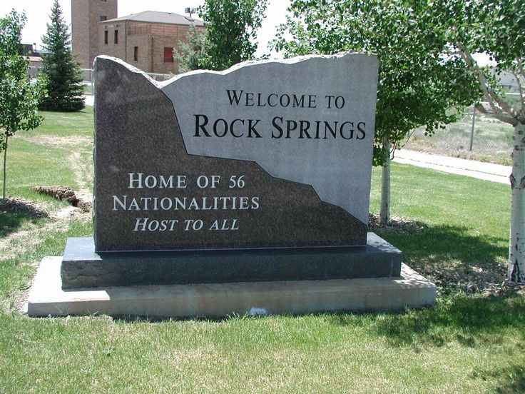 + Rock Springs, Wyoming Welcome Sign