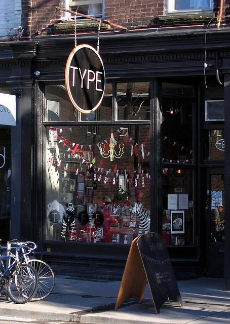 Type Books | Queen St. W., Toronto./a real brick&mortar establishment, i would visit
