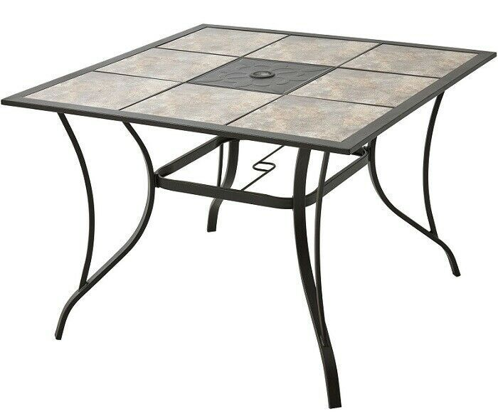 patio dining table tile top 40 inch