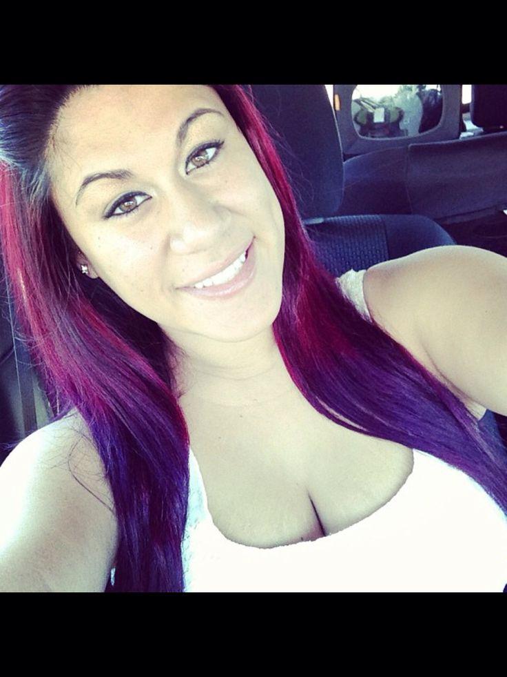 Dark on top and pink purple underneath hair purple underneath hair