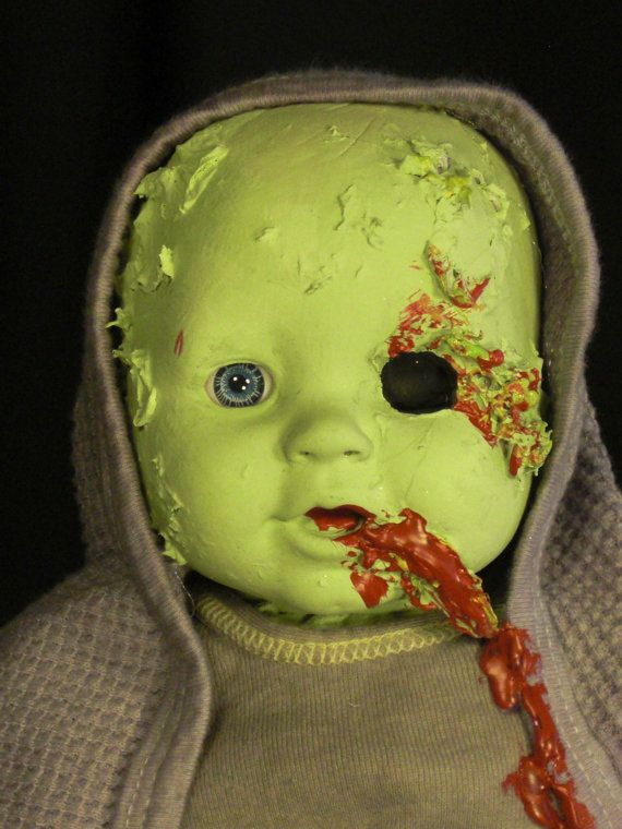 An unusual DEAD DOLL gift Zombie Baby Albert is by LeTron