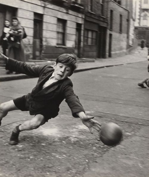 Roger Mayne. Goalie Street Football Brindley Road....