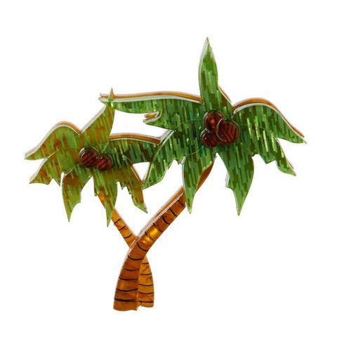 Erstwilder Limited Edition Calming Palms Brooch, $34.95 (AUD)