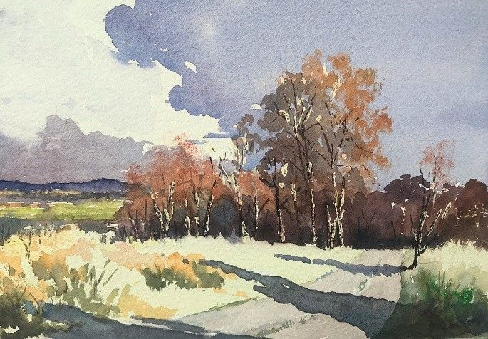 Autumnal Tints Wetcanvas Watercolor Gouache Con Imagenes