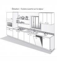 PLan de cuisine en L, ouverte sur le séjour - Marie Claire Maison